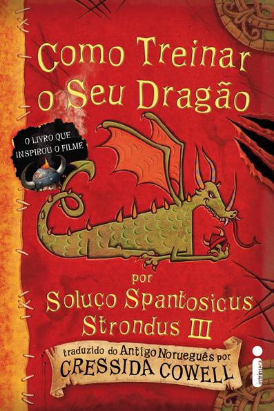 """Capa do Livro """"Como Treinar o seu Dragão"""" de Cressida Cowell"""