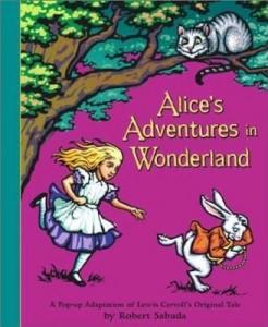 Capa da edição pop-up de Alice no país das Maravilhas