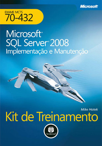 "Capa do ""Microsoft SQL Server 2008 Kit de Treinamento"""