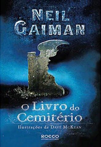 """Capa do Livro """"O Livro do Cemitério"""" de Neil Gaiman"""