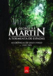 """Capa do livro """"A Tormenta de Espadas"""" de George RR Martin"""