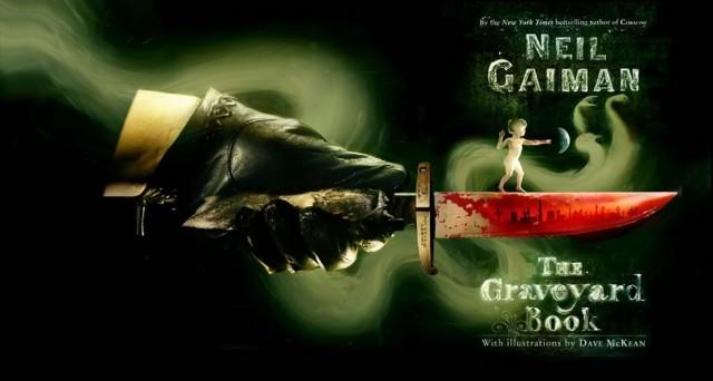 """Outra capa de """"O Livro do Cemitério"""" de Neil Gaiman"""