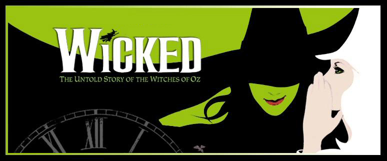 "Banner do espetáculo ""Wicked"""