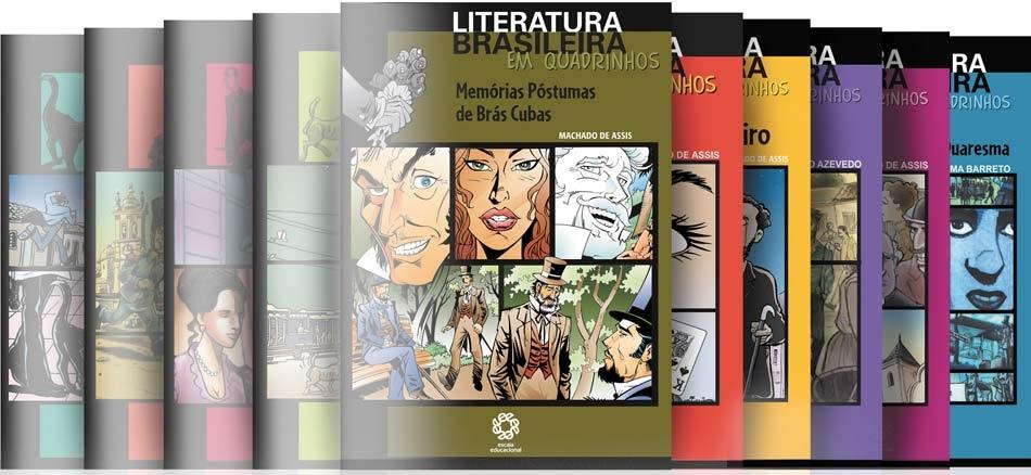 """Capa da coleção """"Literatura Brasileira em quadrinhos"""""""