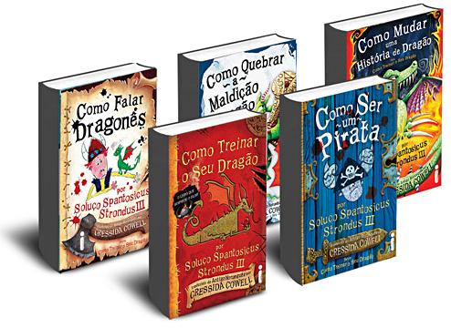 """Livros da série """"Como Treinar o Seu Dragão"""""""