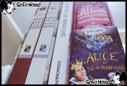 """Varias edições de """"Alice no País das Maravilhas"""" comparadas"""
