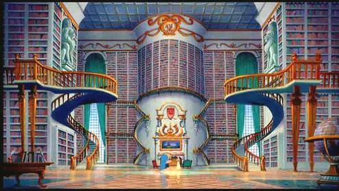 """Print do filme """"A Bela e a Fera"""" da Disney"""