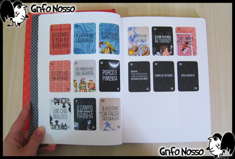 """Indice do livro """"Alice no país das maravilhas -  Edição Especial"""""""