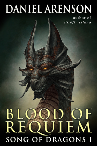 "Capa do Livro ˜Blood of Requiem"" de Daniel Arenson"