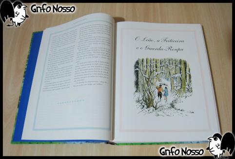 """Interior do Livro """"Crônicas de Narnia"""""""