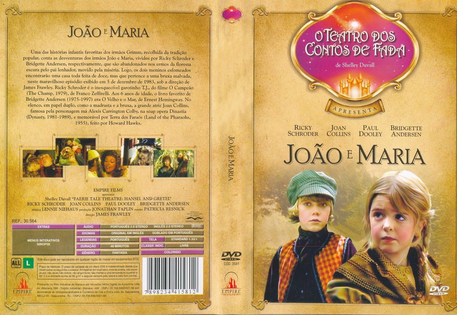 """Capa de """"João e Maria"""" do """"Teatro dos Contos de Fadas"""""""