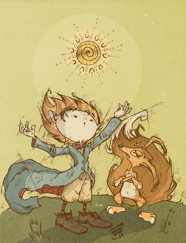 """Ilustração de """"O Pequeno Príncipe"""" por Helsa Amadi"""