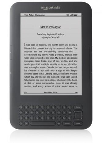 Imagem de um Kindle Keyboard 3G