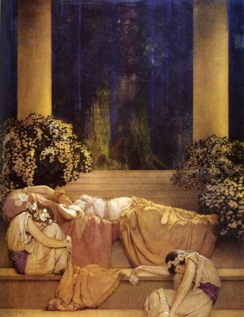 A Bela Adormecida, por Maxfield Parrish